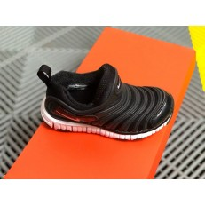 KID'S NIKE DYNAMO FREE PS BLACK WHITE 343738-013