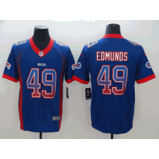 Buffalo Bills #49 Tremaine Edmunds Royal Drift Fashion Limited Nike NFL Men Jersey