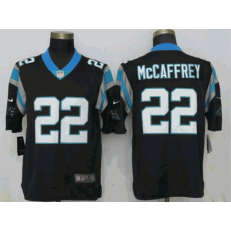 Carolina Panthers #22 Christian McCaffrey Black Vapor Untouchable Limited Nike NFL Men Jersey