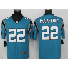 Carolina Panthers #22 Christian McCaffrey Blue Vapor Untouchable Limited Nike NFL Men Jersey