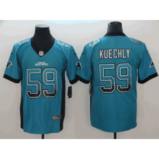 Carolina Panthers #59 Luke Kuechly Blue Drift Fashion Limited Nike NFL Men Jersey