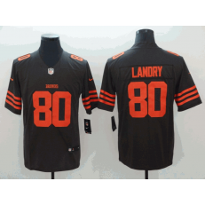 Cleveland Browns #80 Jarvis Landry Brown Color Rush Limited Nike NFL Men Jersey
