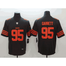 Cleveland Browns #95 Myles Garrett Brown Color Rush Limited Nike NFL Men Jersey