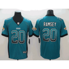 Jacksonville Jaguars 20 Jalen Ramsey Teal Drift Fashion Limited Nike NFL Men Jersey