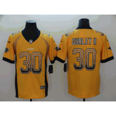 Los Angeles Rams #30 Todd Gurley II Gold Drift Fashion Limited Nike NFL Men Jersey