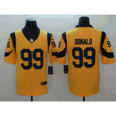 Los Angeles Rams #99 Aaron Donald Gold Vapor Untouchable Limited Nike NFL Men Jersey