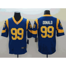 Los Angeles Rams #99 Aaron Donald Royal Vapor Untouchable Limited Nike NFL Men Jersey