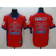 New York Giants #26 Saquon Barkley Red Drift Fashion Limited Nike NFL Men Jersey