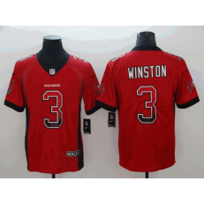 Tampa Bay Buccaneers #3 Jameis Winston Red Drift Fashion Limited Nike NFL Men Jersey