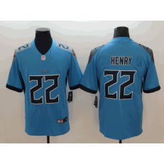 Tennessee Titans #22 Derrick Henry Light Blue New 2018 Vapor Untouchable Limited Nike NFL Men Jersey