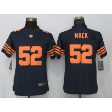 Women Nike Chicago Bears #52 Khalil Mack Navy Blue Throwback Vapor Untouchable Limited Jersey