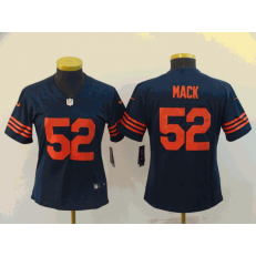 Women Nike Chicago Bears #52 Khalil Mack Navy Throwback Vapor Untouchable Limited Jersey