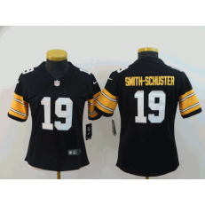 Women Nike Pittsburgh Steelers #19 JuJu Smith-Schuster Black Alternate Vapor Untouchable Limited Jersey