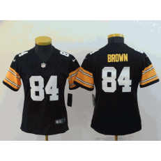 Women Nike Pittsburgh Steelers #84 Antonio Brown Black Alternate Vapor Untouchable Limited Jersey