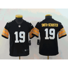 Youth Nike Pittsburgh Steelers #19 JuJu Smith-Schuster Black Alternate Vapor Untouchable Limited Jersey