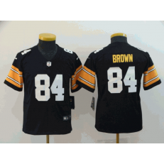 Youth Nike Pittsburgh Steelers #84 Antonio Brown Black Alternate Vapor Untouchable Limited Jersey