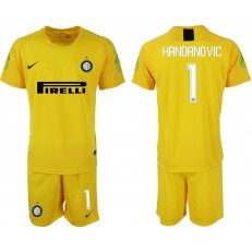 2018-19 Inter Milan #1 HANDANOVIC Yellow Goalkeeper Soccer Jersey