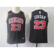 Chicago Bulls #23 Michael Jordan Black Nike Swingman Youth Jersey