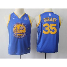 Golden State Warriors #35 Kevin Durant Blue Nike Swingman Youth Jersey