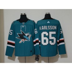 San Jose Sharks #65 Erik Karlsson Teal Adidas NHL Men Jersey