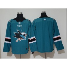 San Jose Sharks #Blank Teal Adidas NHL Men Jersey