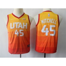 Utah Jazz #45 Donovan Mitchell Multi Color City Edition Nike Swingman Youth Jersey