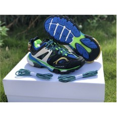 BALENCIAGA TRACK TRAINERS 3.0 BLACK BLUE AND GREEN