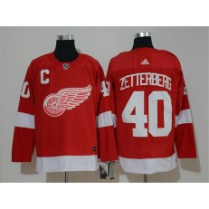 Detroit Red Wings #40 Henrik Zetterberg Red Adidas NHL Men Jersey