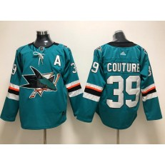 San Jose Sharks #39 Logan Couture Teal Adidas NHL Men Jersey