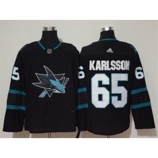 San Jose Sharks #65 Erik Karlsson Black Adidas NHL Men Jersey