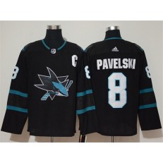 San Jose Sharks #8 John Pavelski Black Adidas NHL Men Jersey