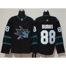 San Jose Sharks #88 Brent Burns Black Adidas NHL Men Jersey