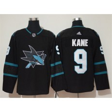 San Jose Sharks #9 Evander Kane Black Adidas NHL Men Jersey