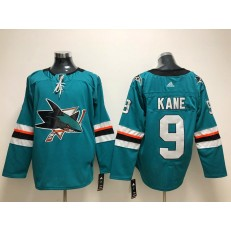 San Jose Sharks #9 Evander Kane Teal Adidas NHL Men Jersey