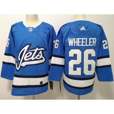 Winnipeg Jets #26 Blake Wheeler Blue Alternate Adidas NHL Men Jersey