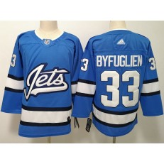 Winnipeg Jets #33 Dustin Byfuglien Blue Alternate Adidas NHL Men Jersey