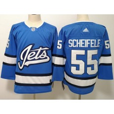 Winnipeg Jets #55 Mark Scheifele Blue Alternate Adidas NHL Men Jersey