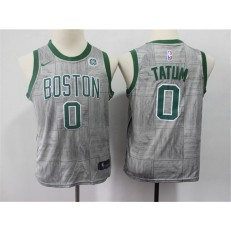 Boston Celtics #0 Jayson Tatum Gray Youth Nike Swingman Jersey