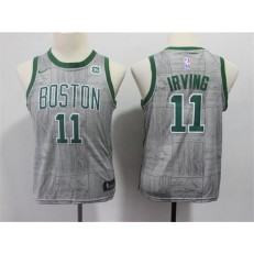 Boston Celtics #11 Kyrie Irving Gray Youth City Edition Nike Swingman Jersey