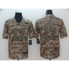 Buffalo Bills #17 Josh Allen Camo Salute To Service Limited Nike NFL Men Jersey