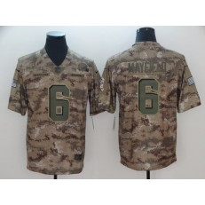 Cleveland Browns #6 Baker Mayfield Camo Salute To Service Limited Nike NFL Men Jersey
