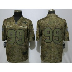 Houston Texans #99 J.J. Watt Camo Salute To Service Limited Nike NFL Men Jersey