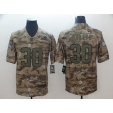 Los Angeles Rams #30 Todd Gurley II Camo Salute To Service Limited Nike NFL Men Jersey
