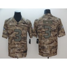Seattle Seahawks #3 Russell Wilson Camo Salute To Service Limited Nike NFL Men Jersey