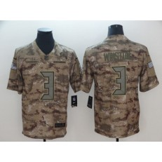 Tampa Bay Buccaneers #3 Jameis Winston Camo Salute To Service Limited Nike NFL Men Jersey