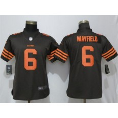 Women Nike Cleveland Browns #6 Baker Mayfield Brown Vapor Untouchable Limited NFL Jersey