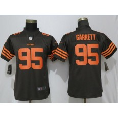 Women Nike Cleveland Browns #95 Myles Garrett Brown Vapor Untouchable Limited NFL Jersey