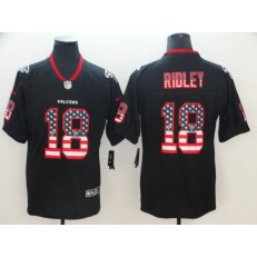Atlanta Falcons #18 Calvin Ridley Black USA Flag Fashion Limited Nike NFL Men Jersey