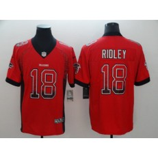 Atlanta Falcons #18 Calvin Ridley Red Drift Fashion Limited Nike NFL Men Jersey