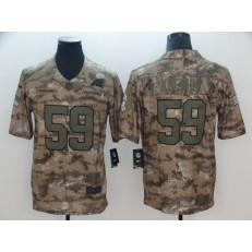 Carolina Panthers #59 Luke Kuechly Camo Salute To Service Limited Nike NFL Men Jersey